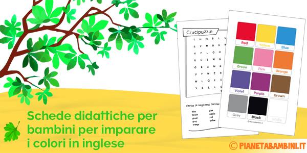 Inglese colori schede didattiche da stampare - Immagini in francese per bambini ...