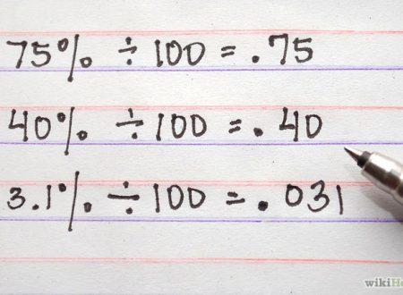 Matematica:Tre metodi per convertire percentuali, frazioni e numeri decimali