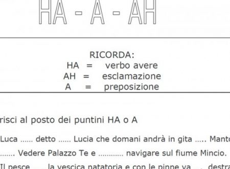 Grammatica:Schede Didattiche uso dell'H