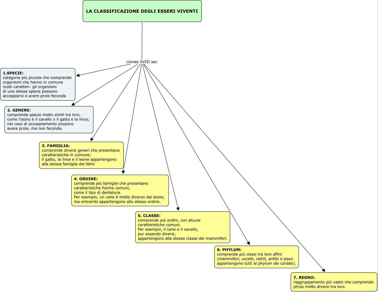 classificazione_-viventi-Mappa-Concettuale