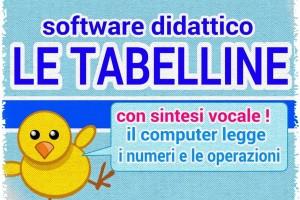 Matematica: Tabelline, app per windows con sintesi vocale.