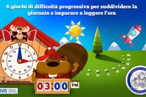 Imparare a leggere l'orologio (app per ipad)